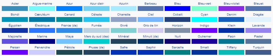 ModèlePalette Teintes de bleu — Wikipédia - Google Chrome